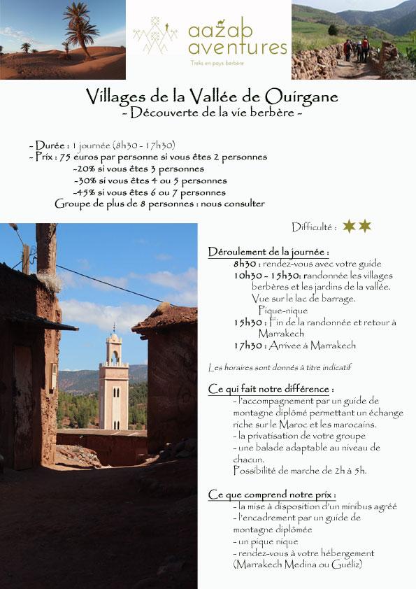 Vallée de Ouirgane, aazab aventure et Riad Azenzer