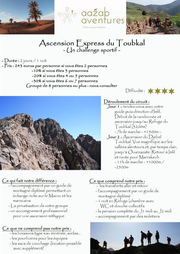 Mini trek express pour gravir le Toubkal