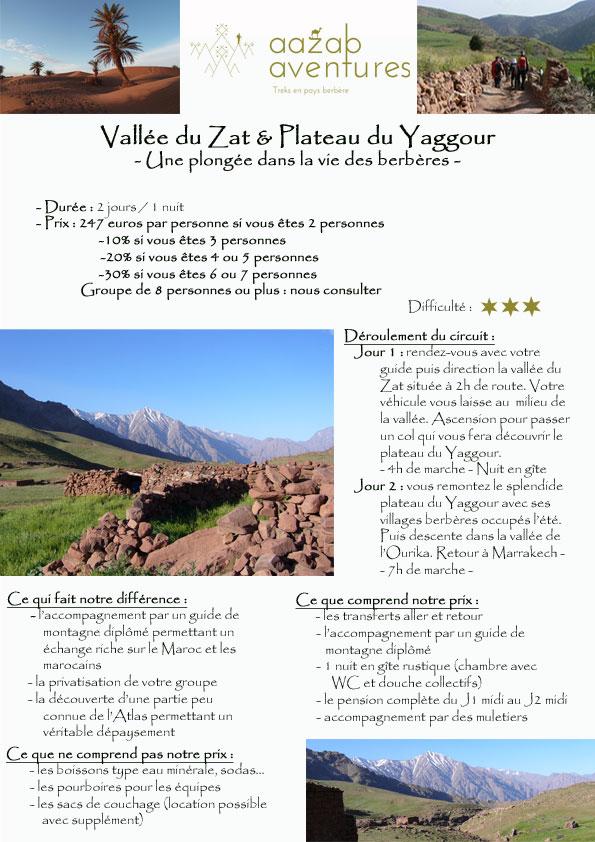 Mini trek dans la vallée du Zat.